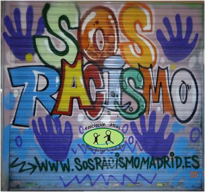 SOS Racismo Madrid grafiti Atlas